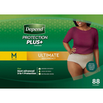 Depends Depends Protection Plus - Women's M - 88 Pack