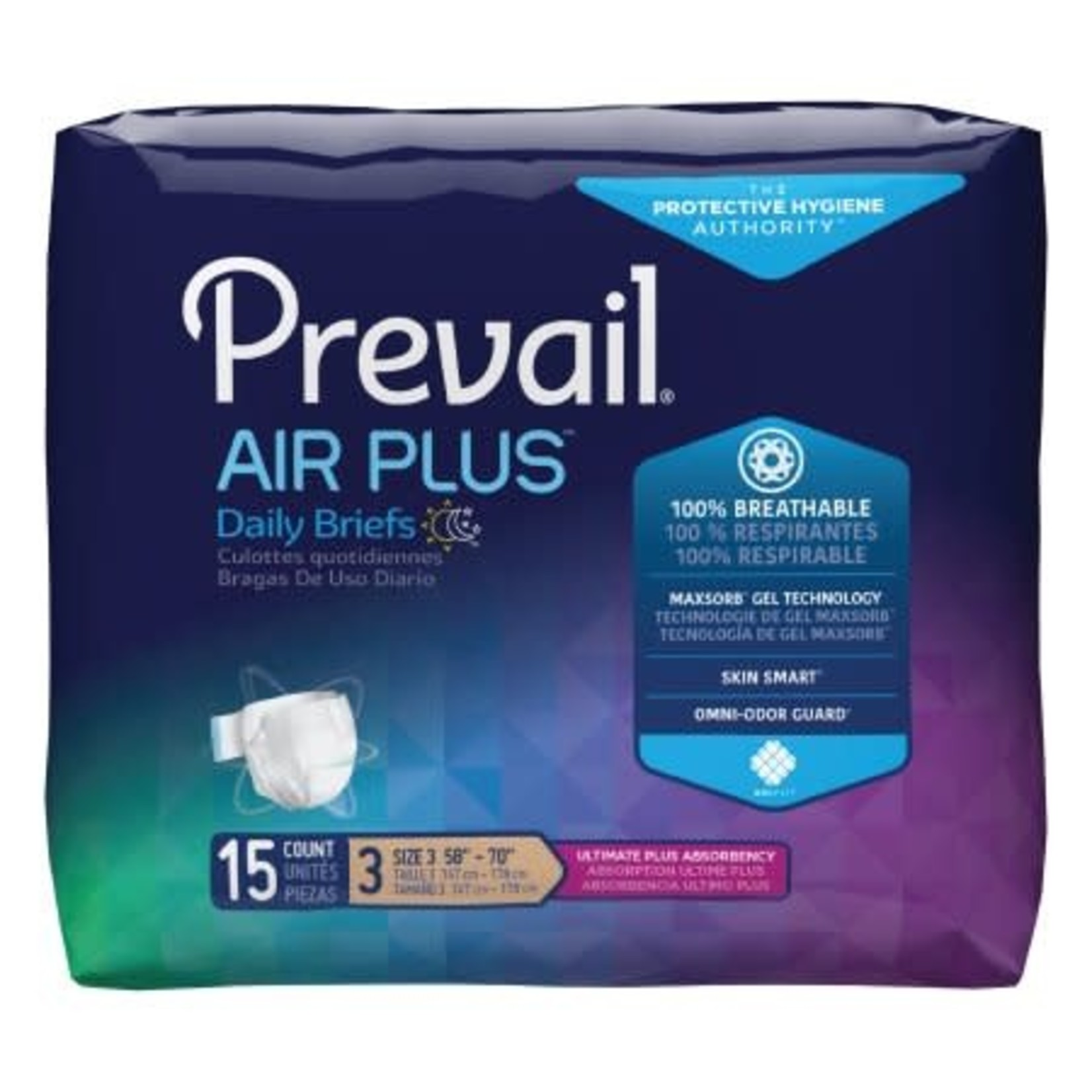 Unisex Incontinence Brief Prevail Air Plus