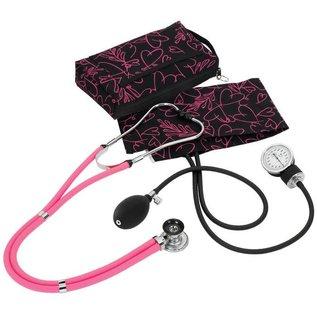 Prestige Medical Steth/Sphyg Combo C:PINK HEARTS