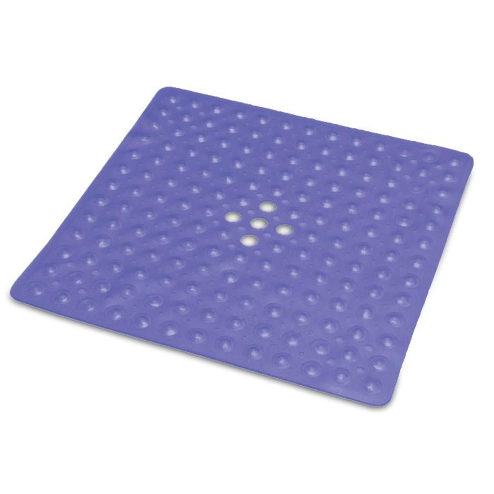 Essential Medical Bath Mat 20x20 Ctr Drain - BLUE