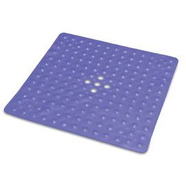 Essential Medical Bath Mat 20x20 Ctr Drain - BLUE