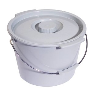 Essential Medical Commode Bucket w/ Lid 12/bx