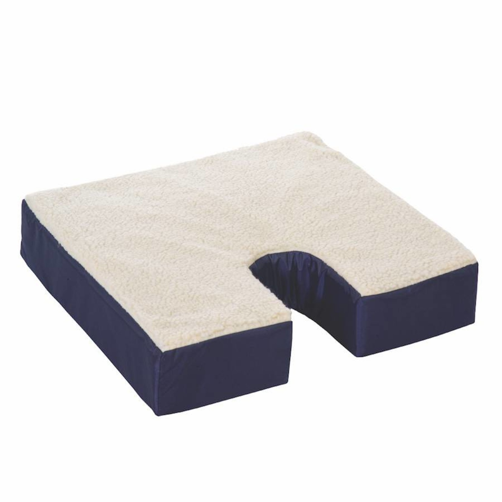 Essential Medical Coccyx Cushion  gel w fleece