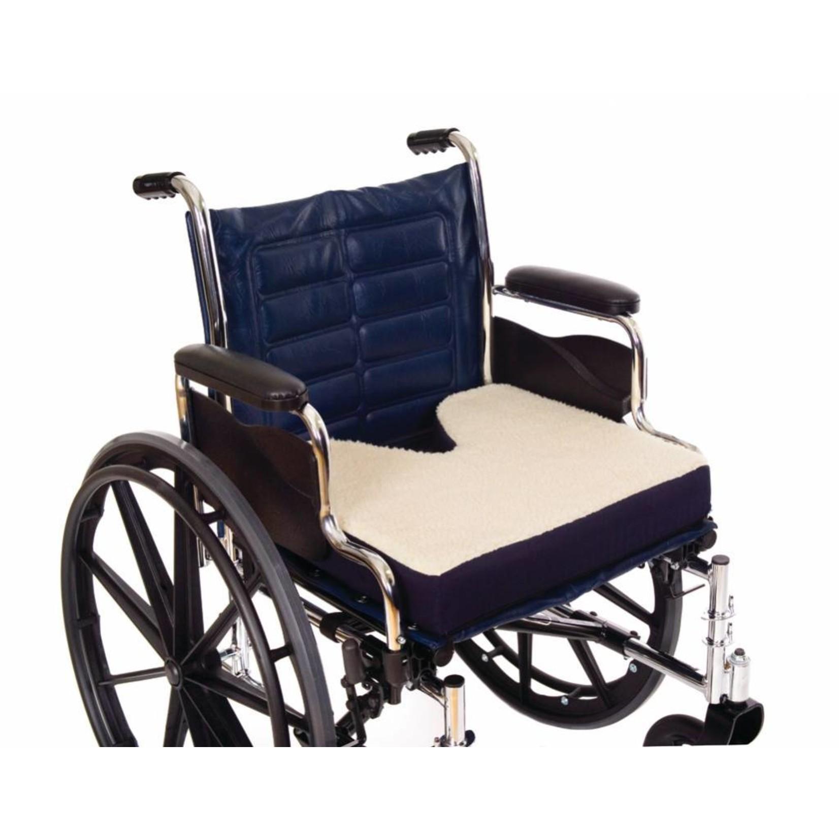 Essential Medical coccyx cushion fleece 18x16x3