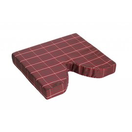 "Essential Medical PLAID COCCYX CUSHION - 18"" X 16"