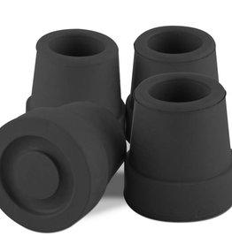 Essential Medical Cane Tip Quad 5/8'' Black x4