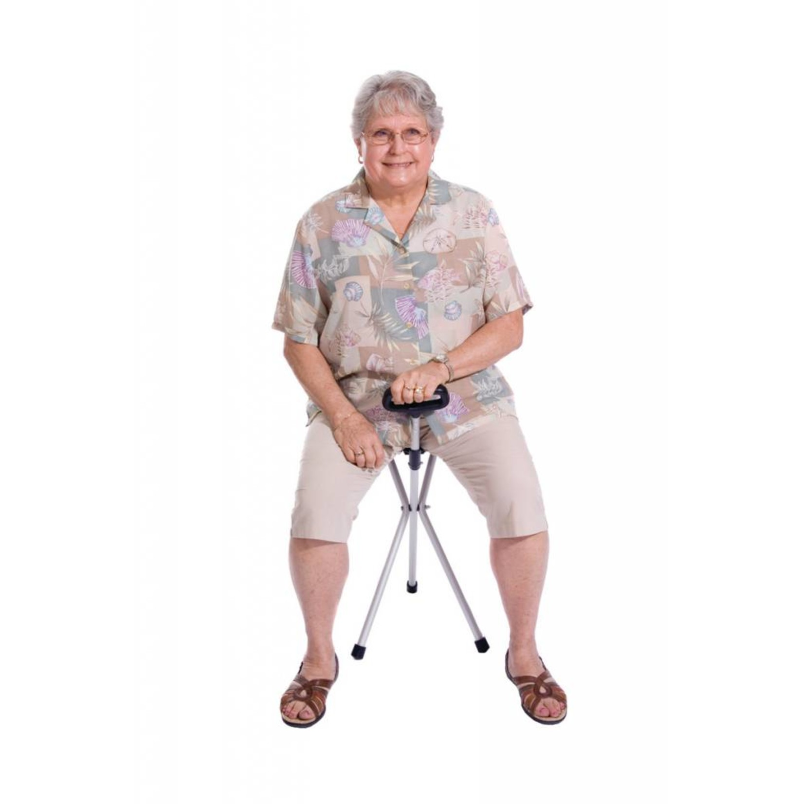 Essential Medical Seat Cane Folding