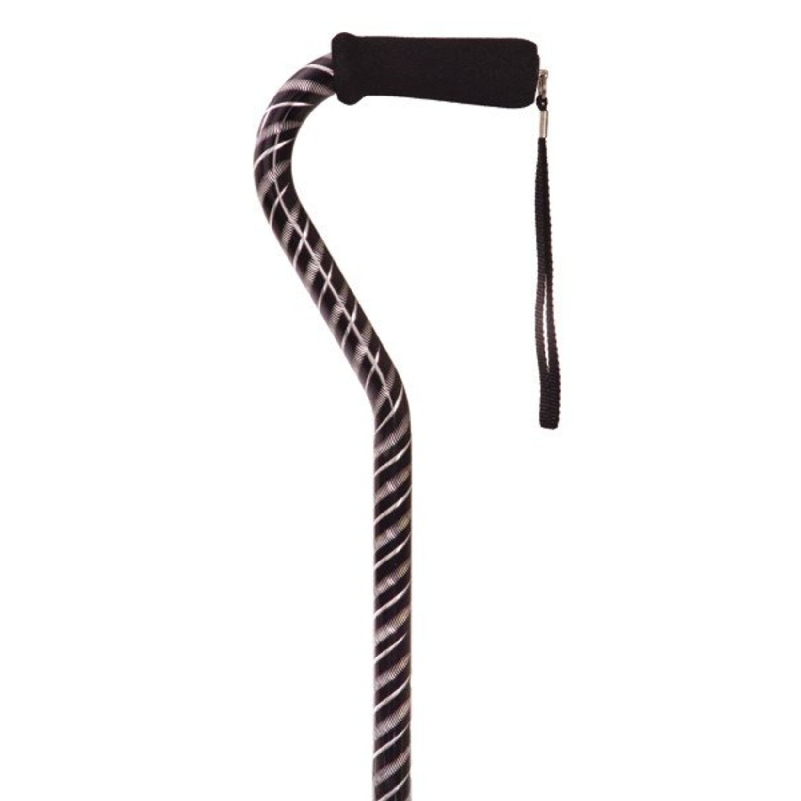 Essential Medical CANE OFFSET Lasercut BLK