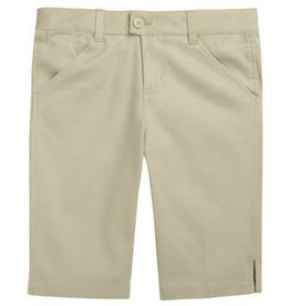 French Toast Adjustable Waist Bermuda Short 10 Plus Khaki