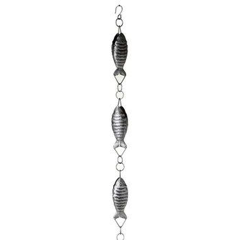 Antique Silver Fish Rain Chain
