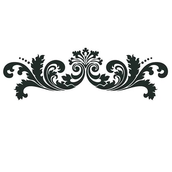 "Artisan Enhancements Leafy Scroll Stencil Linear 14"" x 6"""