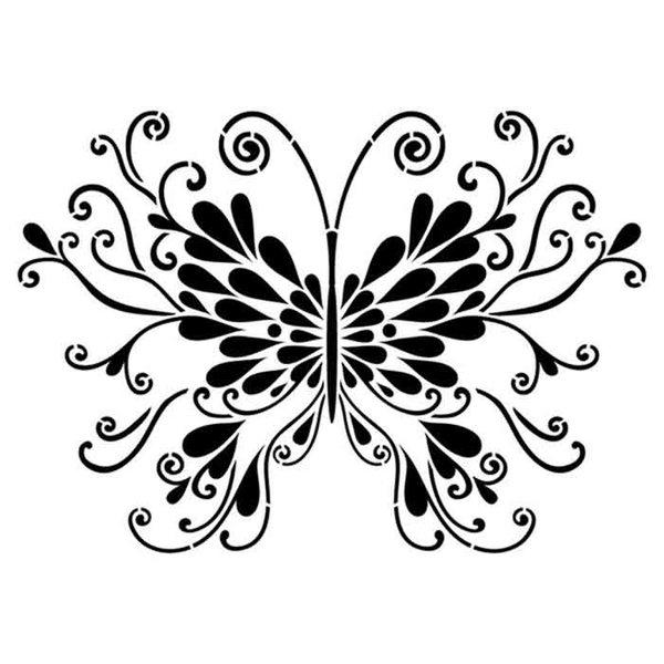 """Artisan Enhancements Butterfly Stencil 7"""" x 9"""""""