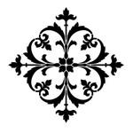 "Artisan Enhancements Gothic Ornament Stencil 9"" x 9"""