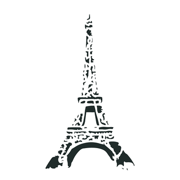 "Artisan Enhancements Eiffel Tower Stencil 8"" x 13"""