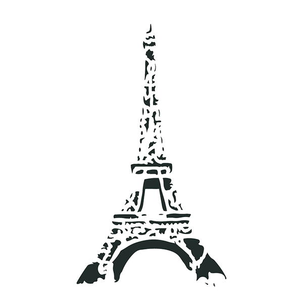 "Artisan Enhancements Eiffel Tower Stencil 8"" x 13"""