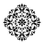 "Artisan Enhancements Versailles Ornament Stencil 11"" x 11"""