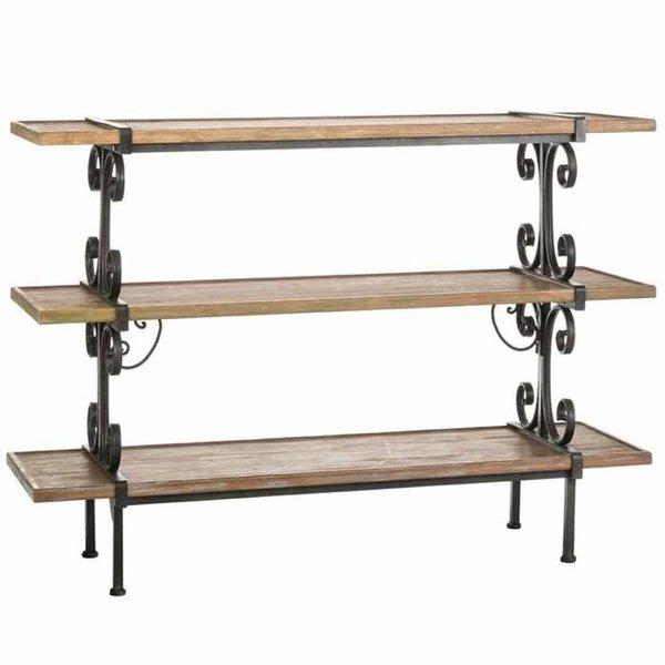 Wood and Metal 3 Tier Shelf