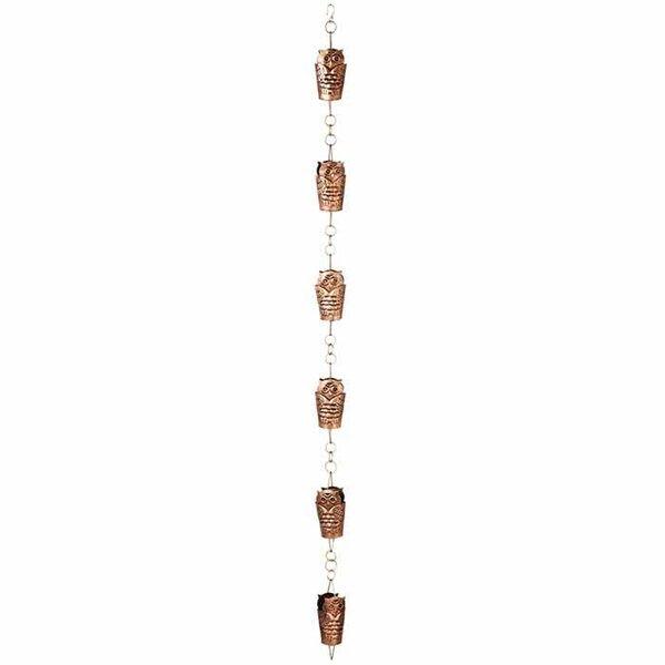 Antique Copper Owl Rain Chain