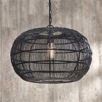 Round Iron Wire Pendant SHIPS FREE