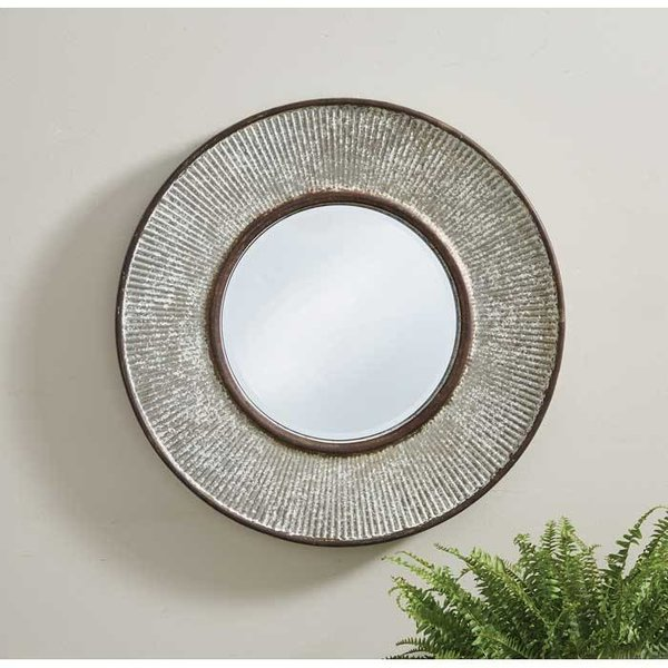 Ribbed Metal Mirror SHIPS FREE