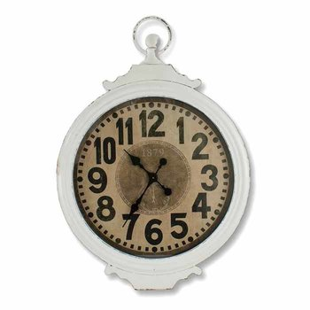Cream Antique Metal Clock SHIPS FREE