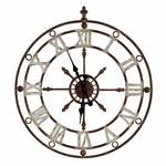 Weathered Metal Clock SHIPS FREE
