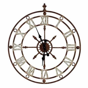 Weathered Metal Clock SHIPS FREE