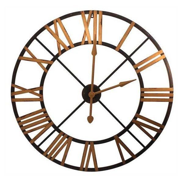 Black & Gold Metal Clock SHIPS FREE
