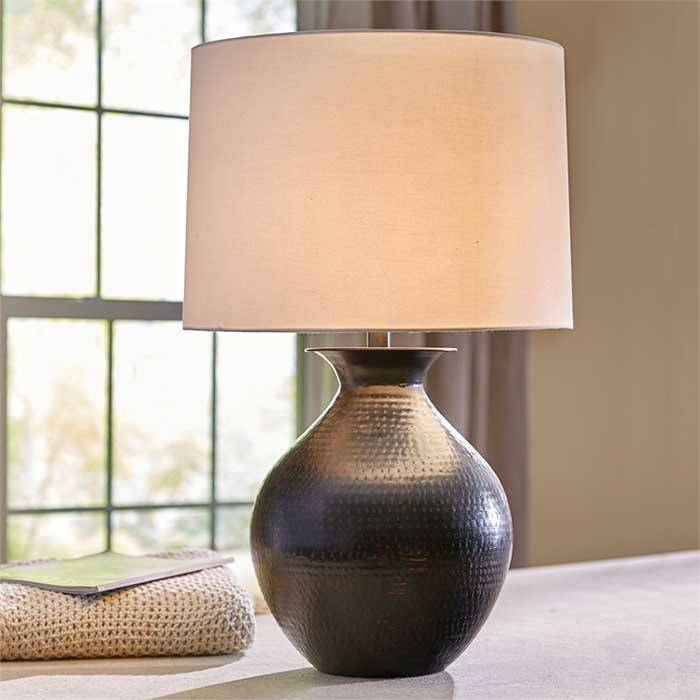 Hammered Metal Table Lamp Chalk It Up