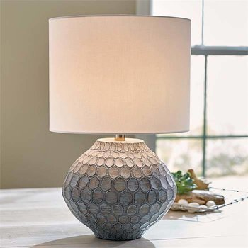 Hand Carved Serena Wood Lamp SHIPS FREE