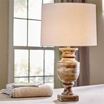 Hand Turned Wood Lamp SHIPS FREE