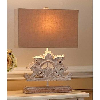 Sculpted Wood Lamp SHIPS FREE
