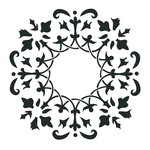 "Artisan Enhancements Artisan Enhancements Wreath Stencil 11""x11"""