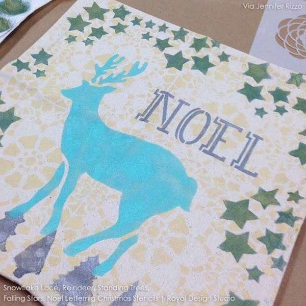 Royal Design Studio Noel Lettering Christmas Stencil