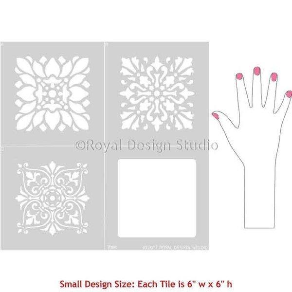 Royal Design Studio Renaissance Tile Stencils Set A