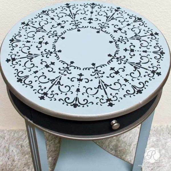 Royal Design Studio San Bartolo Medallion Furniture Stencil