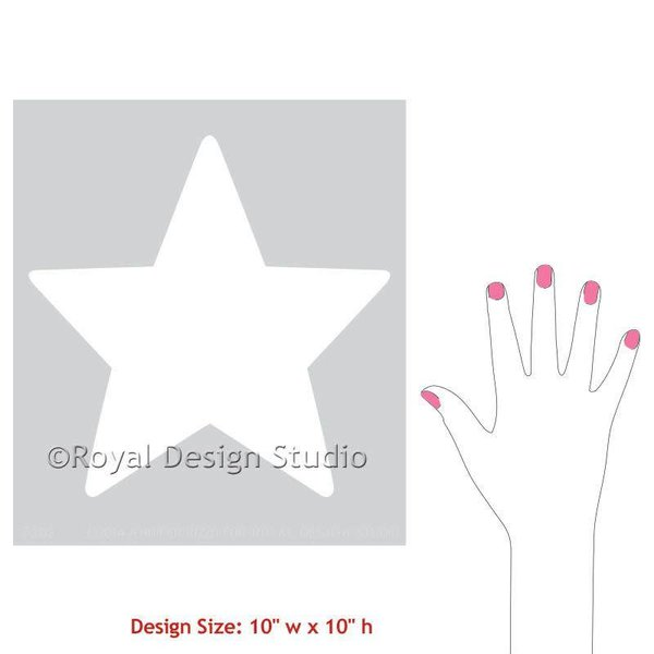 Royal Design Studio Shining Star Christmas Stencil