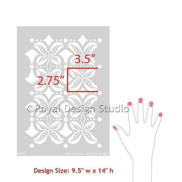 Royal Design Studio Butterfly Furniture Kisses Stencil