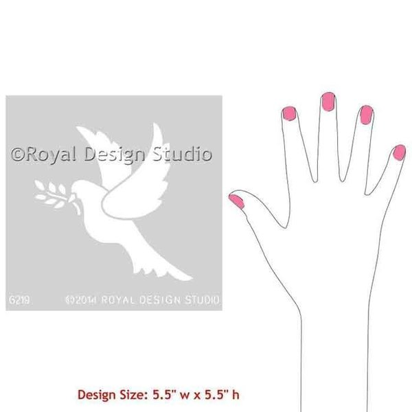 Royal Design Studio Christmas Peace Dove Stencil
