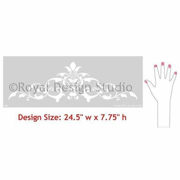 Royal Design Studio Arabesque Ceiling Medallion Stencil