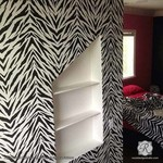 Royal Design Studio Zebra Stripes Allover Stencil