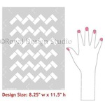 Royal Design Studio Zig Zag Tiles Moroccan Stencil