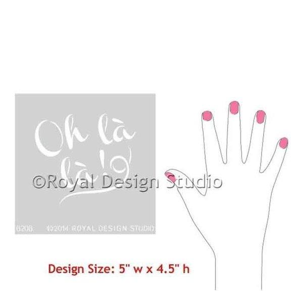 Royal Design Studio Oh La La French Lettering Stencil