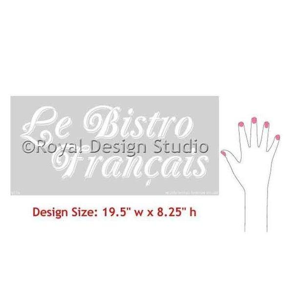 Royal Design Studio Le Bistro Francais Stencil