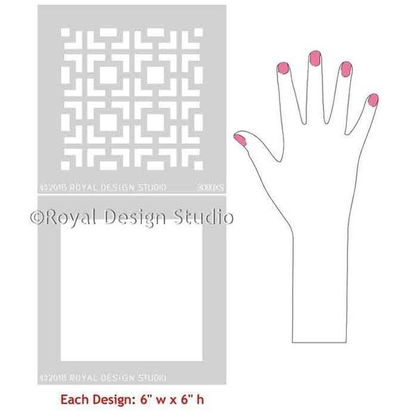 Royal Design Studio Hollywood Squares Craft Stencil, Small