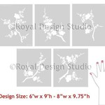 Royal Design Studio Cherry Blossoms Stencil