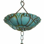 Green Patina Flower Rain Chain
