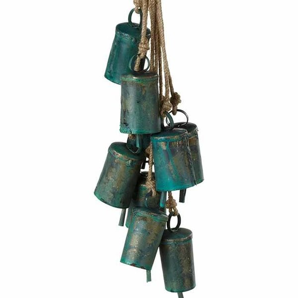 Green Patina Bell Cluster Wind Chime