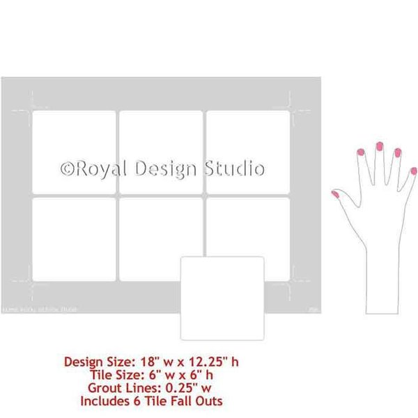 Royal Design Studio Ceramic Tile Stencil