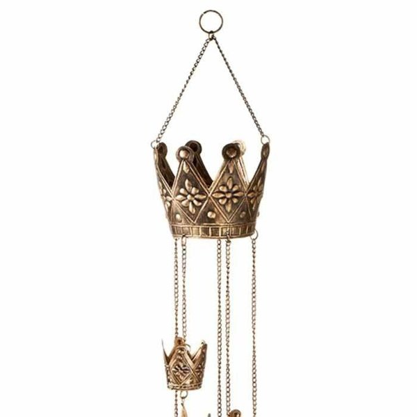 Antique Gold Crown Wind Chime